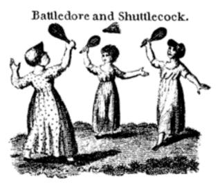 battledore and shuttlecock